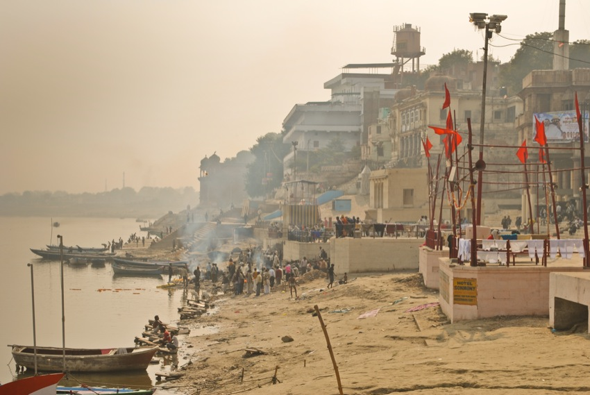 A la orilla del Ganges, fotografías de Varanasi